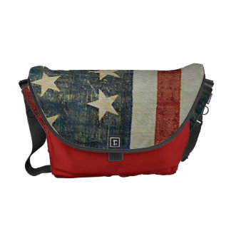 American Flag Distressed Patriotic Courier Bags