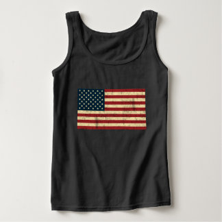 American Flag Distressed Tank Top