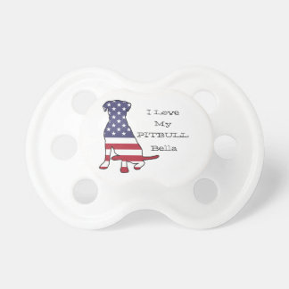 American Flag Dog Baby Pacifier