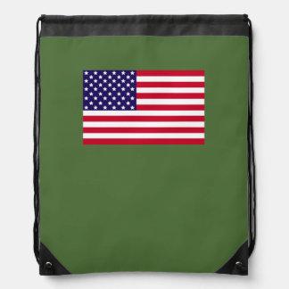 American Flag Drawstring Backpack (rsd-u6)