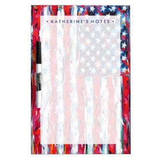 American Flag Dry Erase Board