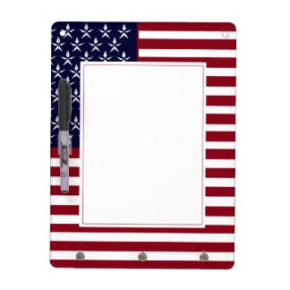 AMERICAN FLAG DRY ERASE KEY HOLDER DRY ERASE WHITEBOARD