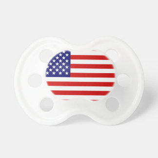 American flag baby pacifiers