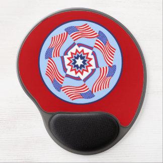 American Flag Dynamic Circle Gel Mouse Pad