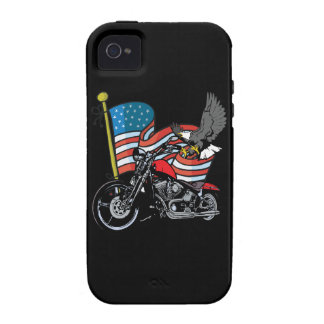 American Flag Eagle Biker Motorcycle iPhone4 Case Case-Mate iPhone 4 Covers