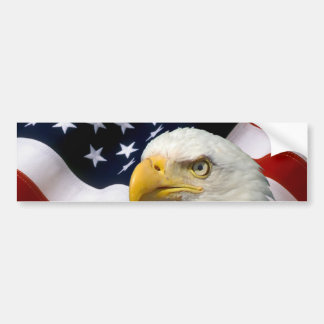 American Flag Eagle Bumper Sticker 5
