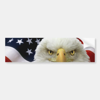 American Flag Eagle Bumper Sticker 7
