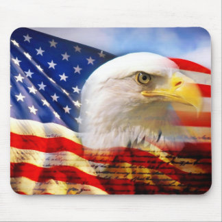 American Flag/Eagle Mouse Pad