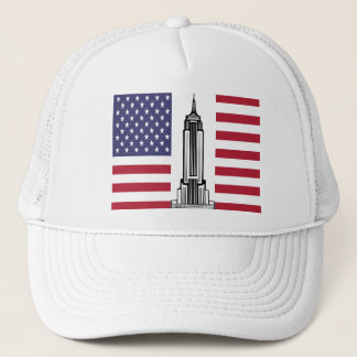 American Flag Empire State Building Hat Cap