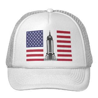 American Flag Empire State Building Hat Cap