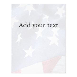 American flag fade flyer