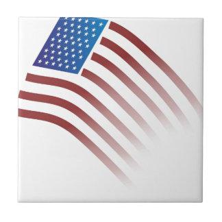 American Flag Fade Small Square Tile