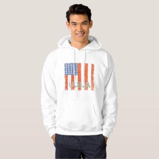 AMERICAN FLAG Faded Hoodie
