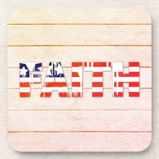 American Flag Faith Coaster