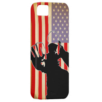 american flag/fight iPhone 5 cover