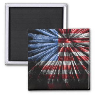 American Flag Fireworks Magnet