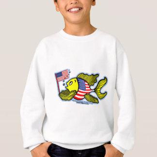American Flag Fish Sweatshirt