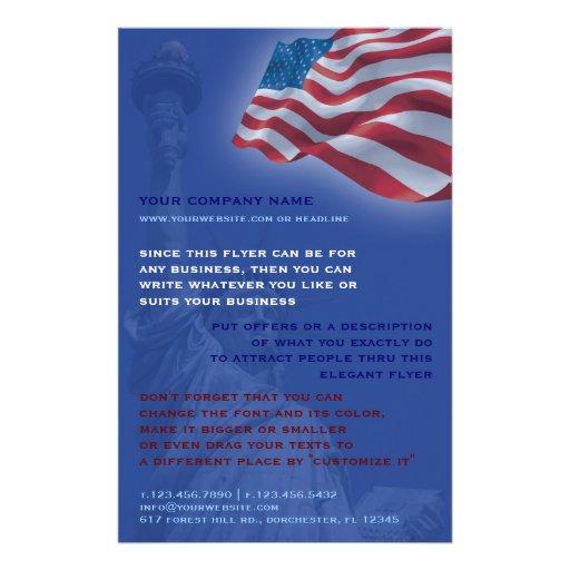 american flag flyer zazzle. Black Bedroom Furniture Sets. Home Design Ideas