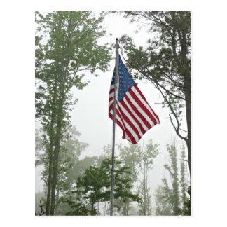 American Flag flying high Postcard