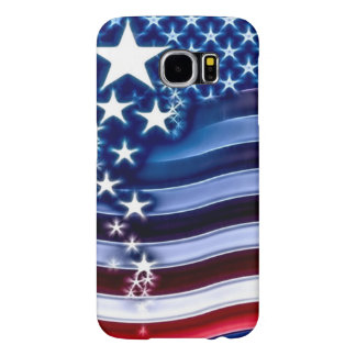 American Flag Fractal Art Samsung Galaxy S6 Cases