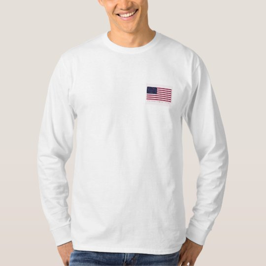 American Flag Front Pocket Long Sleeve EST 1776