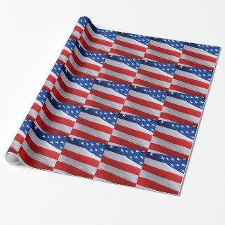 American flag, gift wrap.