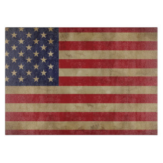 American Flag Glass Cutting Board
