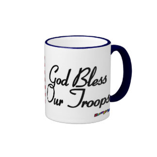 American Flag - God Bless Our Troops! Coffee Mugs