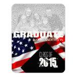 American Flag Graduation Class of 2015 Invitation