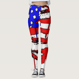 American Flag Graffiti Art Custom Leggings
