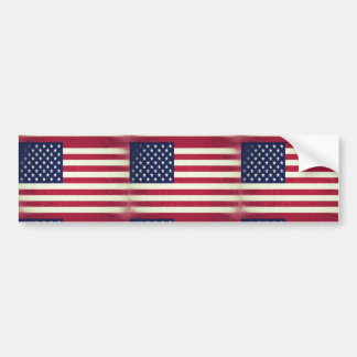 American flag (Grunged) Bumper Stickers