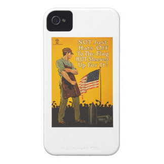 American Flag Hats Off Sleeves Up WWI Propaganda iPhone 4 Case