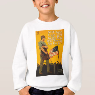 American Flag Hats Off Sleeves Up WWI Propaganda Shirts