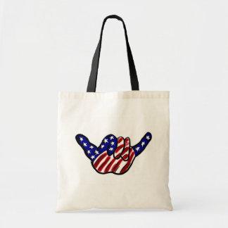 American flag Hawaii shaka artistic reusable bag