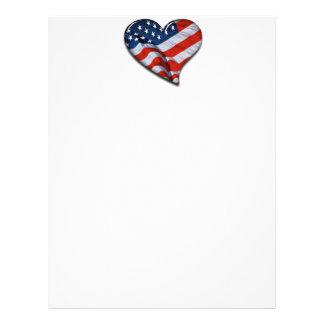 American Flag Heart Full Color Flyer