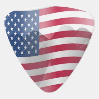 American Flag Heart Guitar Pick