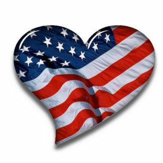 American Flag Heart Photo Cutout