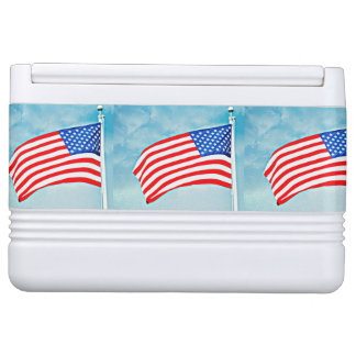 American Flag Igloo Can Cooler Igloo Cool Box