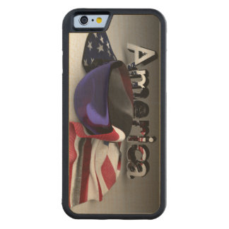 American Flag in a Bowl Maple iPhone 6 Bumper