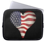 American Flag In A Heart Laptop Computer Sleeves