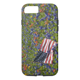 American Flag in field of Blue Bonnets, 2 iPhone 8/7 Case