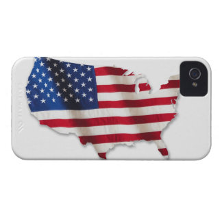 American flag in shape of United States Case-Mate iPhone 4 Case