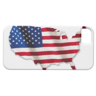 American flag in shape of United States iPhone 5 Cover