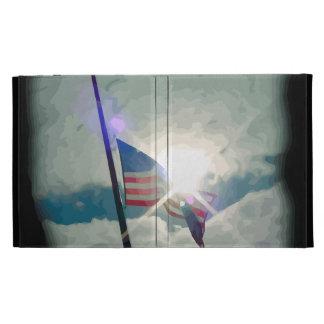 american flag in the sun iPad case