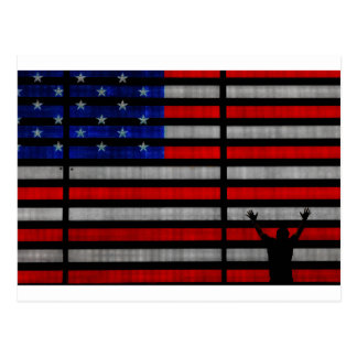 American Flag IN Times Square NYC Postcard