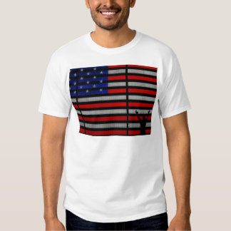 American Flag IN Times Square NYC T Shirt