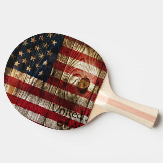 American Flag in wooden bord Ping Pong Paddle