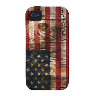 American Flag in wooden bord Vibe iPhone 4 Case