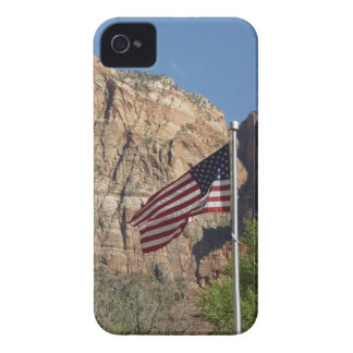 American Flag in Zion National Park I iPhone 4 Case-Mate Cases
