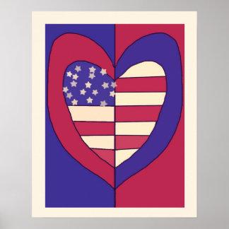 American Flag Inspired Original Design Poster